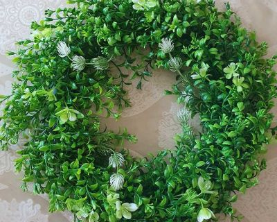 Artificial Greenery Wreath for Front Door ( NOTE CROSSPOSTED)