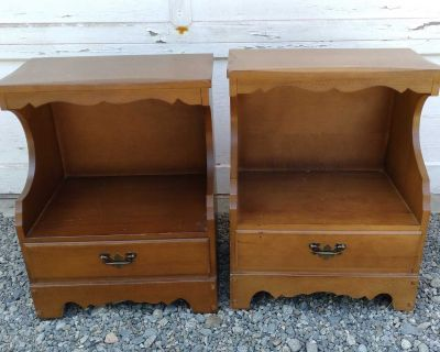 Vintage Maple Night-Stands