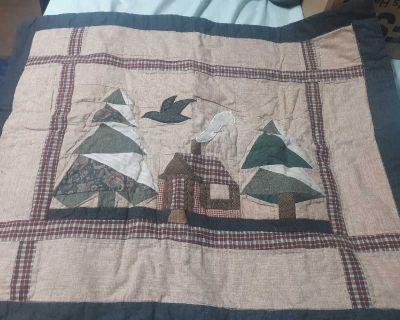 2 quilted pillow shams
