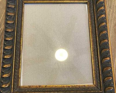 Bronze picture frame 14 x12 , holds 8x10 pic. $8