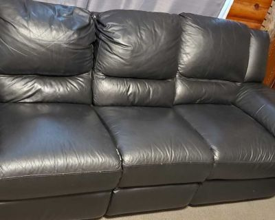 Free Leather reclining couch and love seat.
