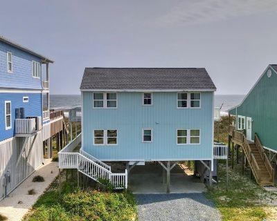 5BR/2BA Oceanfront Home, Recently Renovated, Sleeps 10 - Yaupon Beach