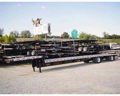 2018 FONTAINE 53x102 combo drop deck CA legal rear axle slide!