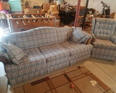 Pull out Couch and Matching Chair