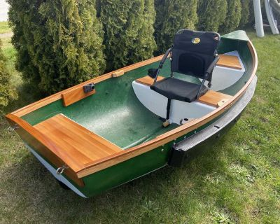 Solid Wood Rowboat