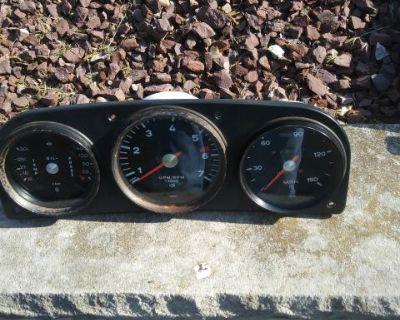 Porsche 914 gauge cluster w/ 911 oil temp and oil