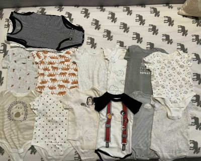 Onesies (carters, some are from costco)