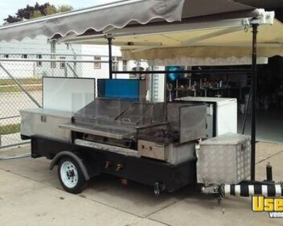 5' x 9' Food Vending Concession Cart with 12' Canopy
