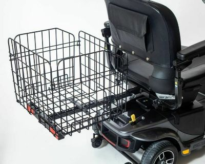 Folding Rear Basket Accessory for Pride Mobility Scooter
