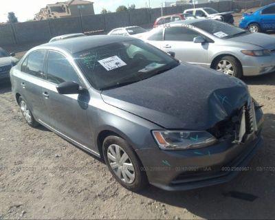 Salvage Gray 2015 Volkswagen Jetta Sedan