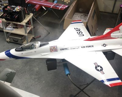 Top RC Model1/6 F-16 airframe and BVM 1/6 Gear Combo