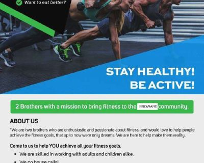 Private personal trainer offering housecalls!