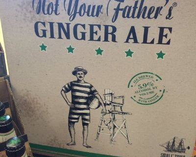 Not your father ginger ale refrigerator