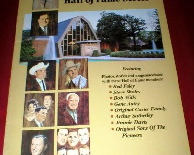 Country Music Hall of Fame - Photos Stories Songs Sheet Music Piano/Vocal/Guitar