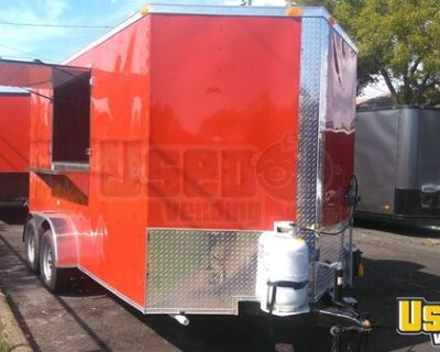 BRAND NEW 2021 - 7' x 14' Mobile Kitchen / NEW Food Concession Trailer