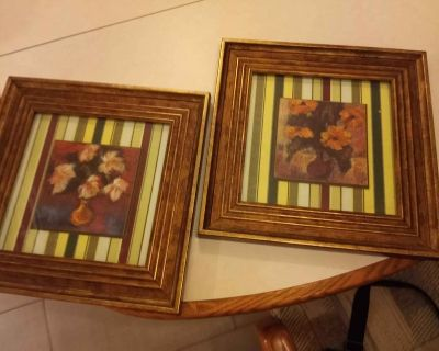 2 very nice wall decorating pictures a set that is very colorful