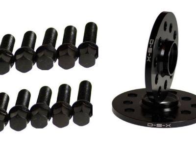 Vw 10mm Wheel Spacers Black 5x100 5x112 Set + Ball Seat Bolts Jetta Golf Passat