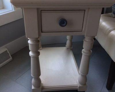 Painted Oak End Tables