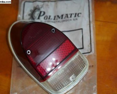 NOS Right Tail Light Lens w/Rim Gasket Polimatic