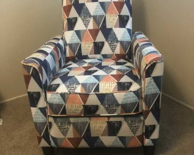 Colorful, comfy recliner