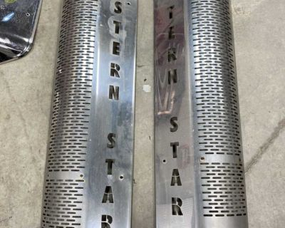 Western Star stainless steel exhaust guards