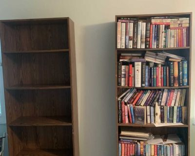 Sauder 5 Shelves Bookcases-3 ($75 each or all 3 for $215) (Books extra)