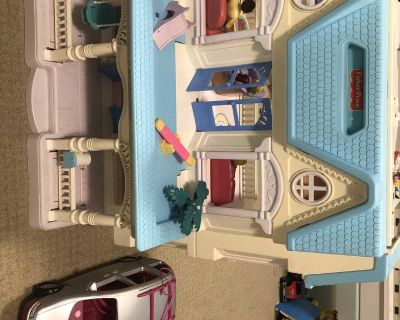 Fisher Price Foldable House and Extras