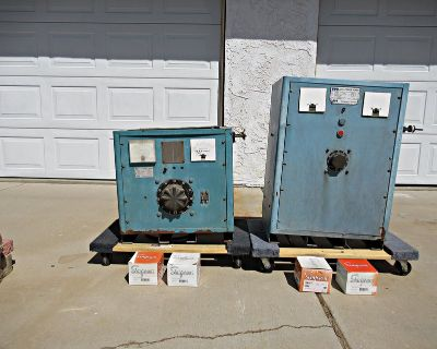 2 HBS DC Power Supply Units Electroplating, Anodizing, Electrowinning, etc. W/New Simpson Pane...