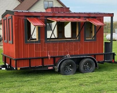 2019 - 7' x 11' Caboose Style Vending Concession Trailer for