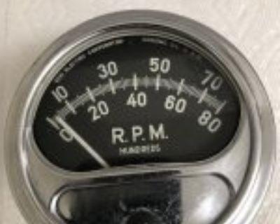 Vintage Sun 8,000 RPM Tach Tachometer