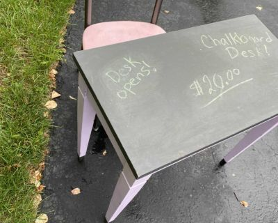 Chalkboard desk with chair