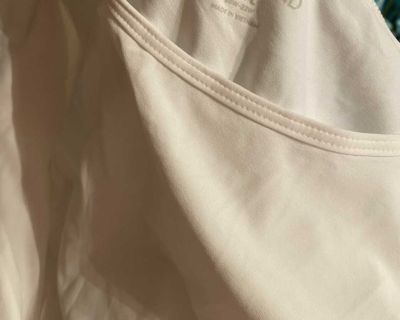 White and stripe lands end shirts