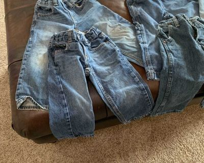 6 pair Boy variety of brands 2t jeans porch pickup