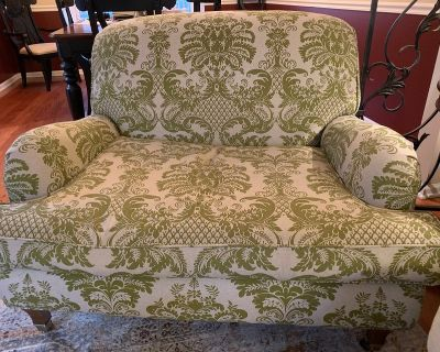 Walter E Smith Chair and Half with Ottoman