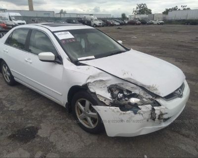 Salvage White 2005 Honda Accord Sdn