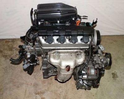 01 02 03 04 05 Honda Civic Ex Lx Acura El 1.7l Sohc Vtec Engine D17 Jdm