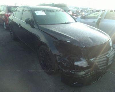Salvage Black 2009 Hyundai Genesis