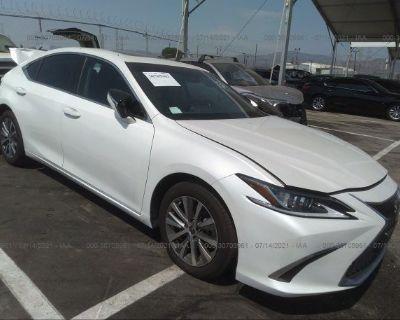 Salvage White 2020 Lexus Es