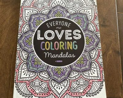Mandalas colouring book, a few pages have been slightly used, over 30 unused pages, pick up in steveston.