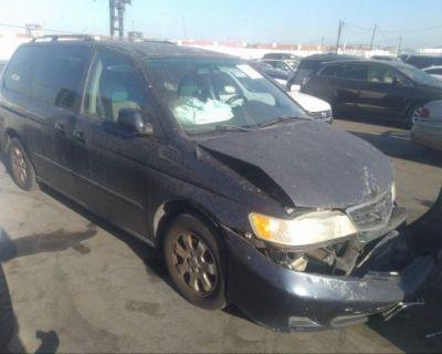 Salvage Dark Blue 2003 Honda Odyssey