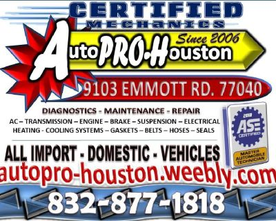 Domestic | Import | Diagnostics Maintenance Repair | Hockley TX