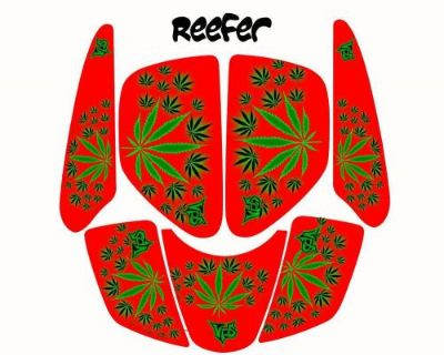 Arctic Cat Dvx400 Reefer Red Graphic Kit #kol14011 Vsh6021