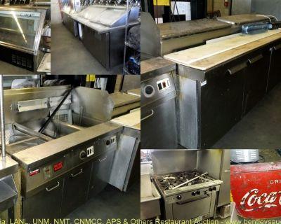 Auction-Ecess Restaurant Equipment From Hello Deli & Moriarty Schools