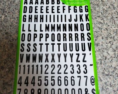 124 NUMBERS, LETTERS & SYMBOLS, BRAND NEW NEVER BEEN OPENED, EXCELLENT CONDITION, SMOKE FREE HOUSE