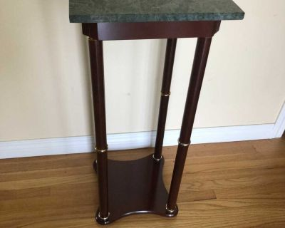 MARBLE TOPPED ACCENT STAND