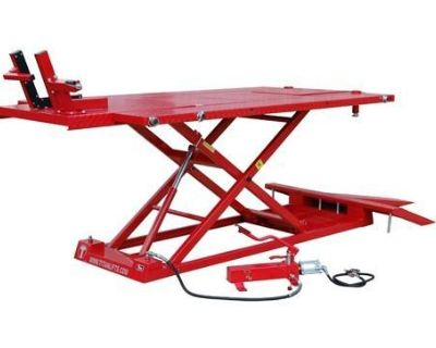 Titan 1500xlt Motorcycle Lift 1,500 Lb Air Powered With Vise With Sides