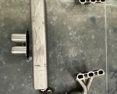 Akrapovic Evo Race Titanium 991 GT3 RS exhaust like new condition~~~~!!!!