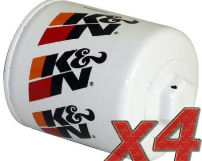 4 Pack: Oil Filter K&n Hp-1002 (4) For Auto/truck Applications
