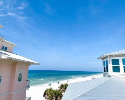 4BR Beach Front House, 30yds to Private Access, Pool, 5 Porches, South of 30A - Seagrove Beach