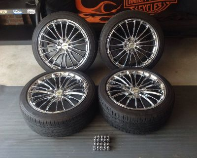 """18"""" Chrome rims and Tires"""